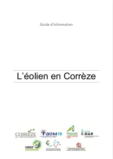 Couverture du guide de l'éolien en Corrèze