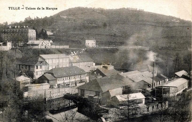 L'usine de La Marque à Tulle au début du 20ème siècle